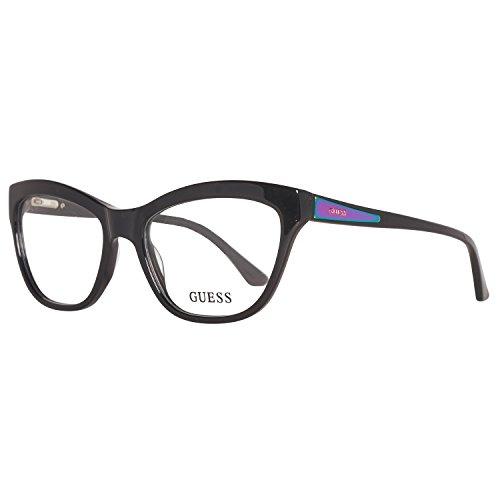 Guess Women's Eyeglasses GU2463 GU/2463 BLK Black Full Rim Optical Frame - Prescription Guess Glasses
