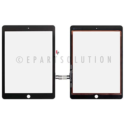 ePartSolution_Replacement Part for A1893 A1954 iPad 6th Gen 9.7'' 2018 Ver. LCD Display Touch Screen Digitizer Glass Lens (Black)