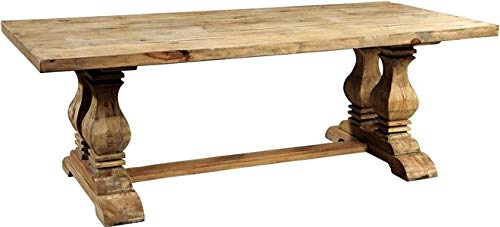 (Furniture Classics Trestle Table Dining Manor House 9-Ft Elm Pine New)