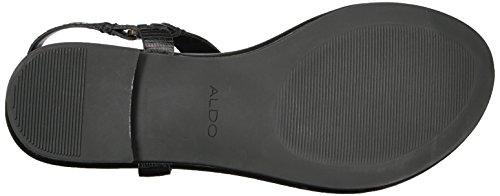 ALDO Women's Joni Flat Sandal Black Leather find great cheap price go3CU