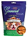 Gourmet Premium Meat Snack Wrap Dog Treat Flavor: Apple and Chicken, Quantity: 6-oz, My Pet Supplies