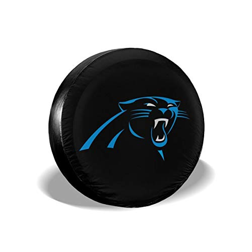 MamaTina Design Waterproof Tire Cover Carolina Panthers American Football Team Unisex Spare Tire Cover for Jeep Trailer RV SUV and Many Vehicle