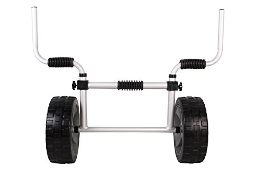 TMS Kayak-Cart-KY003B Aluminum Sit on Top Kayak Canoe Scupper Cart Dolly Wagon Carrier Trolley ()
