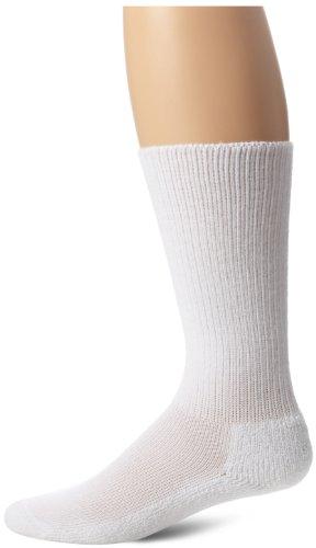 Thorlo Men's Moderate Cushion Therapeutic Over-Calf Sock, White, X-Large
