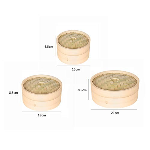 Gano Zen One Cage and One Cover Cooking Bamboo Steamer - Fish Rice Vegetable Snack Basket Set Kitchen - Cooking Tools by Gano Zen (Image #6)