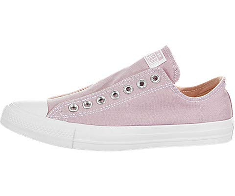 (Converse Unisex Chuck Taylor All Star Slip On Sneaker, Plum Chalk/Washed Coral/White, 8 M US)