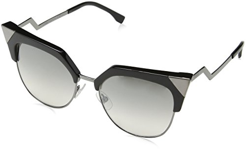 Fendi FF 0149/S 0KKL Iridia Black/Ruthenium Cateye - Fendi Black Iridia