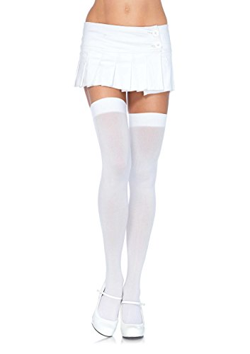 Leg Avenue Women's Opaque Nylon Thigh High (Knee High Womens Costumes)