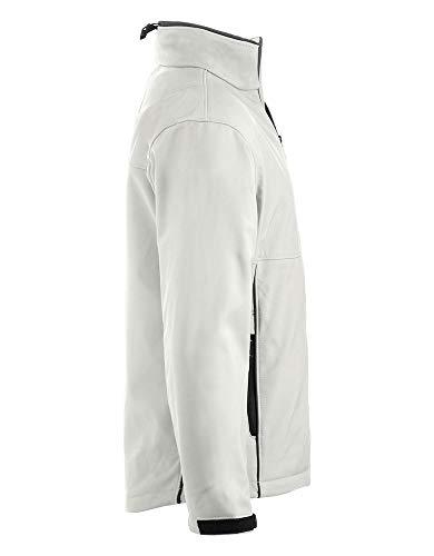 wei/ß//grau 19990 Gr/ö/ße: 3XL CRAFTLAND Softshell-Jacke