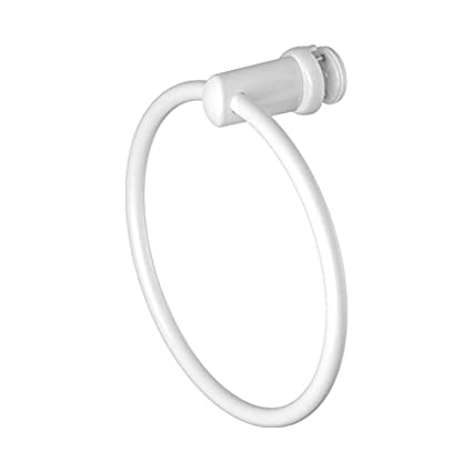 Handy Ring - Toallero de aro para radiadores con tubos planos - Blanco - 1 pz