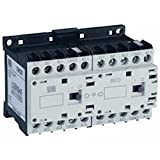 Contactor, Mini, Reversing, 12A, 4-Pole, 24VAC coil (60Hz only), 1-NO Contact