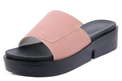 Slip on Outdoor Elégant Bout Rose Mules Easemax Ouvert Femme RUaXIX