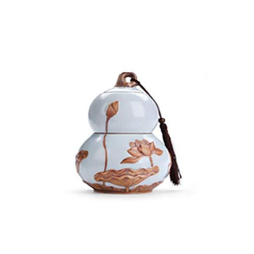 - Ashes, Ceramic Urns, Sealed Cans, Celadon Storage Boxes, Size Urns, Hibiscus Ceramic Urns, Sealed Coffins, Ceramic Boxes, Pet Boxes, (Color : Gourd Large)
