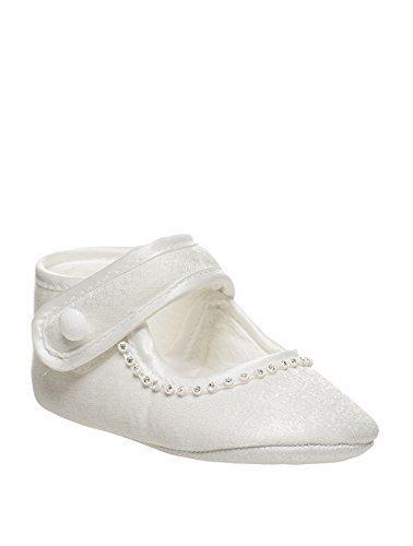 Sevva , Bebé Zapatos para niña, de Niña Bautizo Zapatos, BEBÉS Zapatos, bebé 0-4 - Blanco, Infant 0