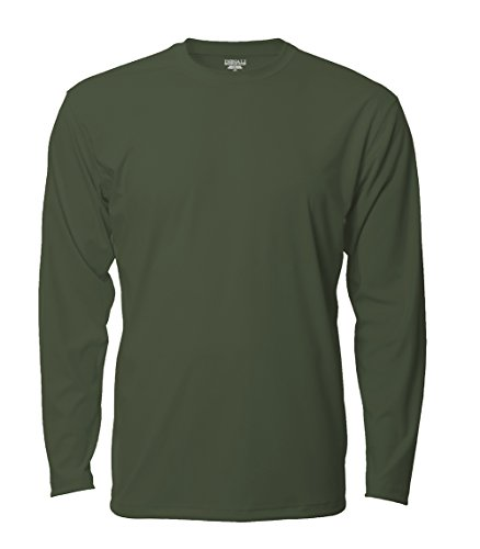 (Denali Performance Men's UPF 50+ ProtectUV Mega Solar Long Sleeve T-Shirt, Military Green, X-Large)