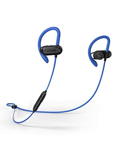 Soundcore Spirit X Sports Earphones by Anker, with Wireless Bluetooth 5, 12-Hour Battery, IPX7 SweatGuard Technology, Secure Fit for Sport and Workouts, with Mic Blue