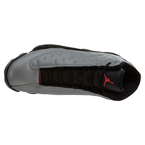 Jordan Hombre Rojo Zapatillas para Retro Negro PRM Infrrd Plateado 23 blck Exterior 13 Deporte de Reflect Air NIKE Silver vwqR77