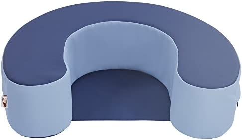 Navy and Pebble Blue ECR4Kids SoftZone Sit and Support Ring Baby Floor Seat