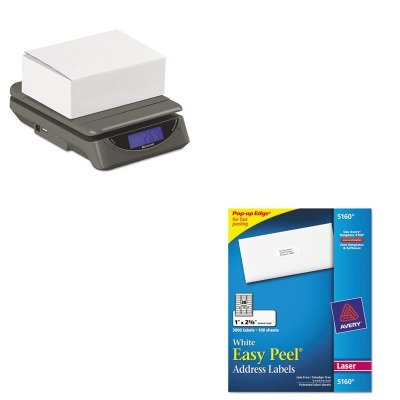KITAVE5160SBWPS25 - Value Kit - Salter Brecknell 25lb. Electronic Postal Shipping Scale (SBWPS25) and Avery Easy Peel Laser Address Labels (AVE5160)