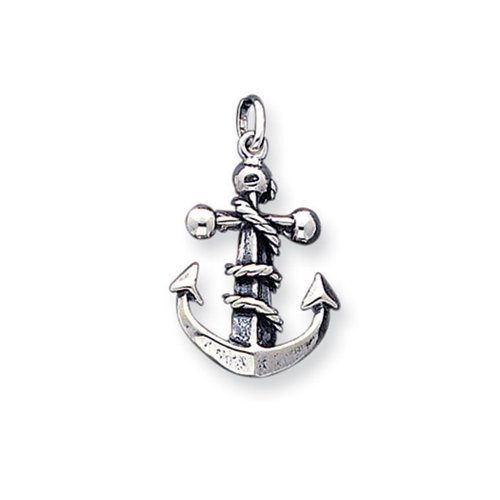 Mariners Cross Anchor (Sterling Silver 3D Antiqued Mariner Cross Pendant)