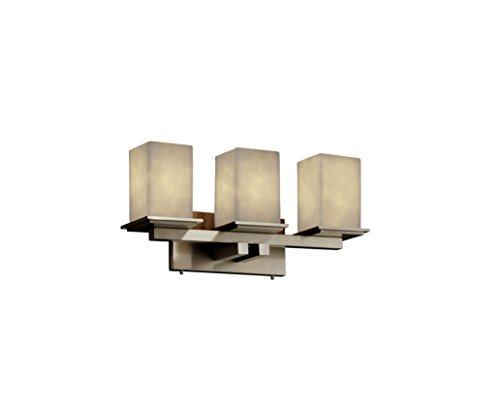 (Justice Design Group CLD-8673-15-CROM Clouds Collection Montana 3-Light Bath Bar Light Fixture)