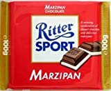 Ritter Sport Marzipan Dark Chocolate 100g