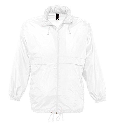 SOL'S Men's Surf Windbreaker Jacket White - Jacket Nylon Windbreaker