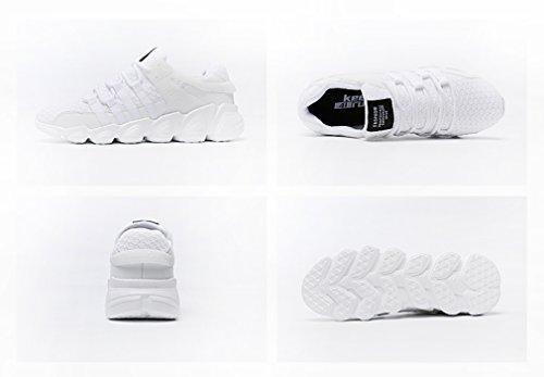 Running Uomo Sneakers Donna Tennis Corsa Outdoor da 718 Unisex Sport GUDEER Trekking 2bianco Mesh Ginnastica Sportive Fitness Respirabile Scarpe Shoes Adulto Basse 8awOT6