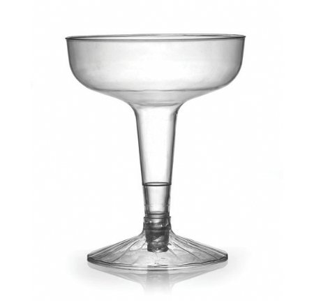 Fineline Settings Flairware Clear 4 Ounce, 2 Piece Old Fashioned Champagne Glass. Pack of 20 - 4 Piece Old Fashioned Glass