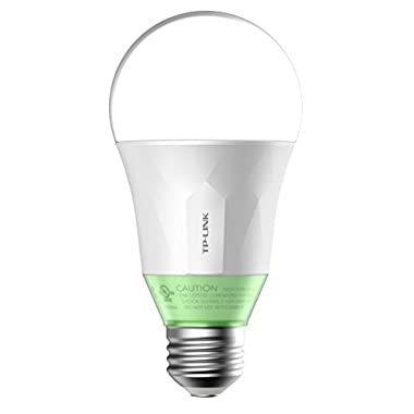 TP-Link Smart Wi-Fi A19 LED Bulb, Works with Alexa, 2700K Dimmable White, No Hub Required, 60W Equivalent, 1-Pack (LB110)