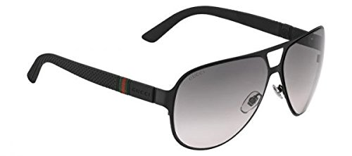 8daebdbb44 Gucci Men s GG 2252 S Black SemiMatte Gray Gradient by Gucci