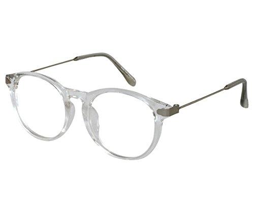 EyeBuyExpress Bifocal Reading Glasses Mens Womens Round Crystal Acetate Frames ()