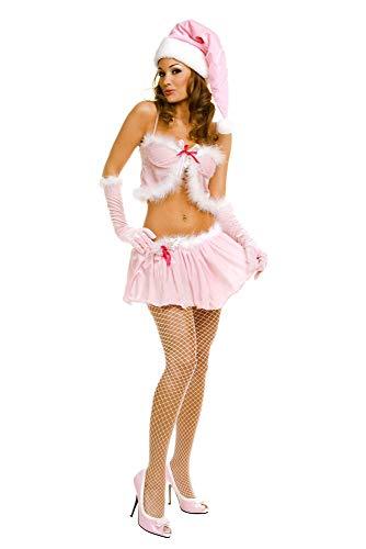 Music Legs Women's 2 pc Pink Miss Santa Skirt Set