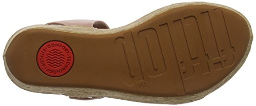 Punta Dusky Sandals Sandalias para Mujer Abierta Bon Back Fitflop Strap Rosa II 535 Pink con Leather Sc48pg