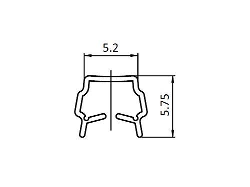 Länge 0.5 Meter /& Einfassprofil schwarz B-Typ Nut 6 Abdeck