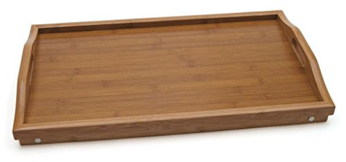 Lipper International 8863 Bamboo Wood Bed Tray with Folding Legs, 19.75