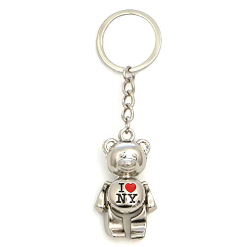New York Keychain - I Love New York Bear, New York Keychains, New York City Souvenirs