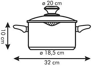 Casserole PRESTO avec couvercle et bec verseur 2.5 l /ø 20 cm