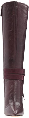 West Piselli Women's Wine Boot Leather Fashion Nine qHExXdq