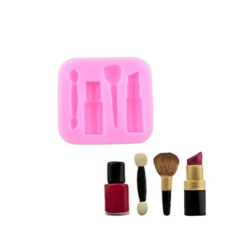 Lipstick Baking Fondant Cake Decorating Makeup Cosmetic Silicone Mold Chocolate Baking Mould