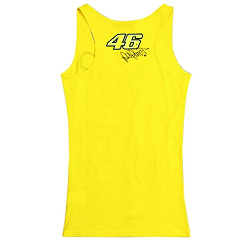 Valentino Rossi VR46 The Doctor Moto GP Womens Tank Top Yellow Official 2015