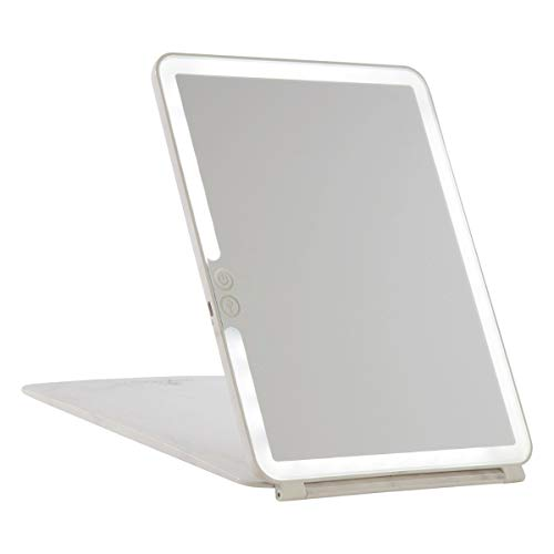 TouchPad Rechargeable Makeup Mirror w Flip Cover