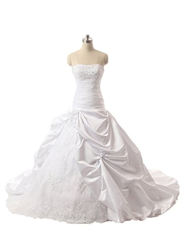 DZdress up Dress Lace Long Wedding Organza Women's Gowns White Ball gqw7gra