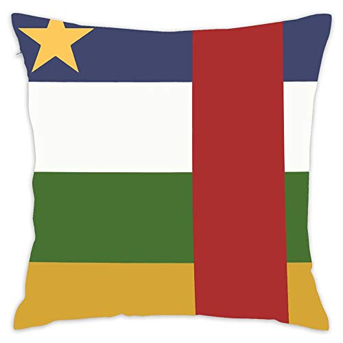 Podas Big Central African Republic Flag Decorative Pillow Case Throw Pillows Covers for Couch/Bed 18 X 18 Inch Home -
