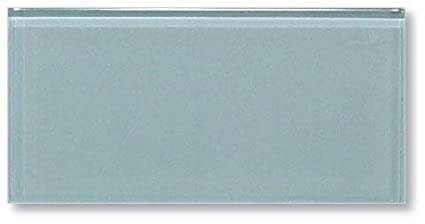 Sample Color Swatch Of Jasper Blue Gray 3x6 Glass Subway Tiles For