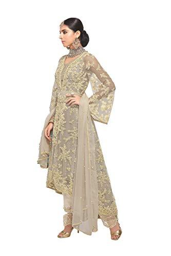 r Partywear Ethnic Traditonal Grey Salwar Kameez. ()