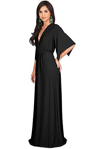 2385467d95 KOH KOH Plus Size Womens Long Kaftan Caftan Short Sleeve Empire Waist Flowy  V-neck