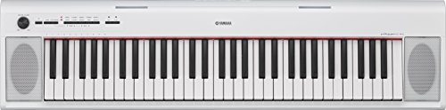 Yamaha NP12 61-Key Lightweight Portable Keyboard, White (power adapter sold separately) by Yamaha