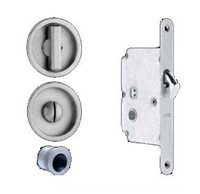 Omnia 3910 Mortise Lock for Wood Pocket Doors, Brushed Stainless Steel by Omnia (Image #1)