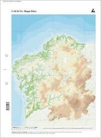 Mapa De Galicia Fisico Mudo.Mapa Fisico Galicia Mapas Mudos Amazon Es Edicions Do